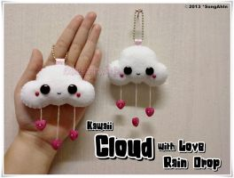 Kawaii Cloud with Love Rain Drop by SongAhIn