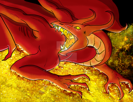 Smaug the Dragon by kmccaigue