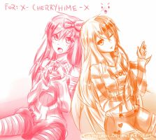 :Commish: x-CherryHime-x by SimplyMelodic