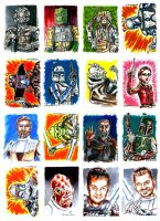Star Wars sketch cards by siebo7