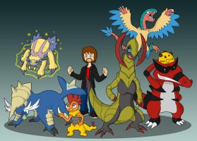 Pokemon Black Elite Four Team by 0parkp