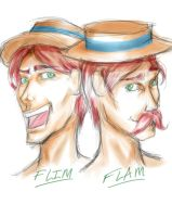 MLP - The Flim Flam Bros by redblacktac