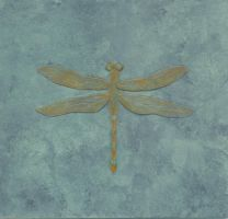 Copper Patina Dragonfly by flightresponse