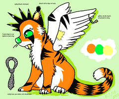 CLOSED Winged Saber-toothed Tiger adoptable by Sliced-Penguin