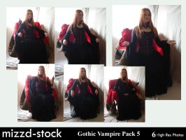 Gothic Vampire Pack 5 by mizzd-stock