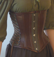 Hemp Fantasy Underbust Corset by LillysWorkshop