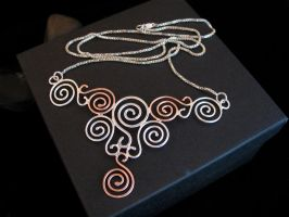 Celtic Spiral Pendant by camias