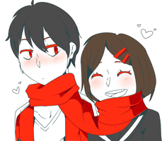 Shintaro X Ayano by Kishinu