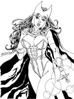 Scarlet Witch Commission 1 by John-Stinsman