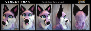 Violet's finished head -commission- by TrelDaWolf