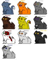 Thunderclan Tards by pinkgoth101