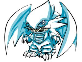 Chibi Blue Eyes White Dragon by Frenchielover4ever