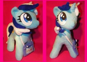 ooak my little Pony mlp fim fanmade plush colgate by quantumcreations