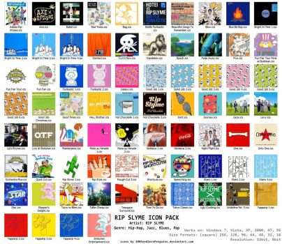 RIP Slyme Albums 74 Icon Pack by 100SeedlessPenguins