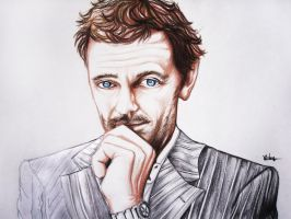 Dr House portrait by Jijiyee