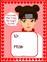 Valentines Day Card : Tenten by Sorceress2000