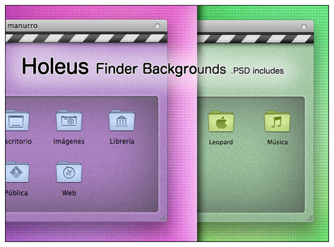 Holeus Finder Backgrounds by manuee