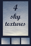 4 Sky Textures Pack by AnastasiaMorning