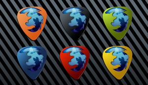 Firefox Guitar Pick Icons by AskingMyValentine