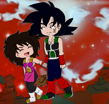 Bardock and Gine by Doggy-Yasha
