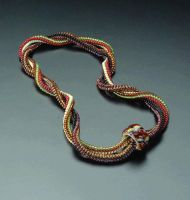 Woven rice bead necklace by Jasmin-jewel