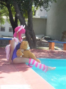 Annie Pool Party-League of Legends Cosplay 01. by brandonale