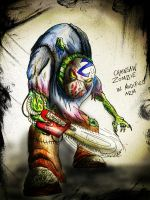 Chainsaw Armed Zombie by The-Mattness