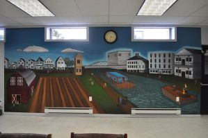 Spencerport Mural by Rollingboxes