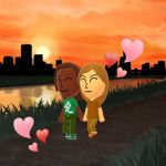 Andy and Hope talking a walk in park by SusanLucarioFan16