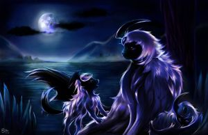Moonlight Absol by Ka-ou