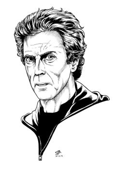 The Twelfth Doctor 3 (2015) Inks by SteveAndrew