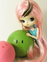 Pink and Green by Pyochi