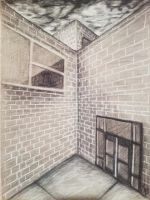 Charcoal Sketch - Brick Building by AJToons