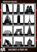 PS Brushes - Buildings Of Paris 001 by darkaion