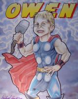 Owen as Thor at 5 years old by michaelboarts