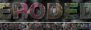 Eroded Metal Text - Photohop Action by Digital-Saint