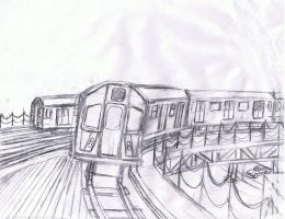 NYCTA R142A (6) train *WIP* by K9RASArt