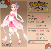 Poke-Village app: Emilia by ophiurida