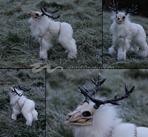 Malakai the Ghost Stag for Escaron by Creature-Cave