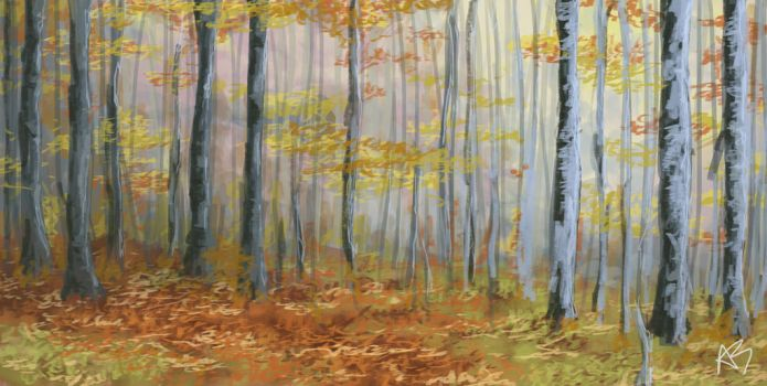 Autumn forest by arlene00