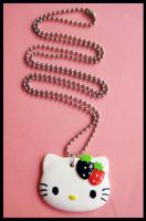 B-R Hello Kitty Necklace by cherryboop