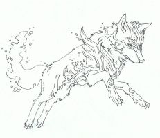 Wolf request inked by bluemist72