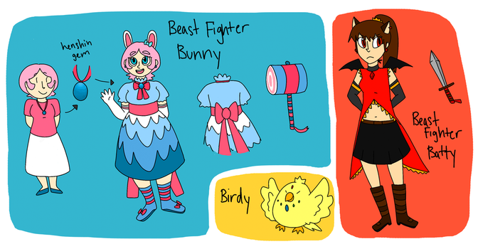 Beast Fighters Reference by Electric-Banana