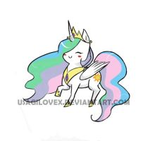 Chibi Celestia~ by UsagiLovex