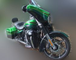 Green bike 3 by Panopticon-Stock
