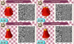 Animal Crossing NL-Hetalia QR Codes- Latvia by hearts2love16