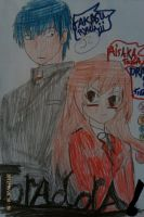 Toradora takasu ryuuji and aisaka taiga by Bluedragoncartoon