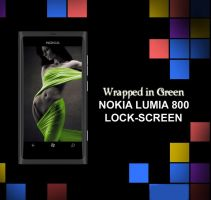 Nokia Lumia 800 Wallpaper : Wrapped in Green by bladerahul
