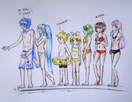 Vocaloid Pool Party by princetheripper33