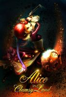 RED Queen of  Alice in clumsyland by muravei